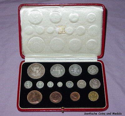1937 ROYAL MINT KING GEORGE VI CORONATION PROOF SET COINS - Nice Example