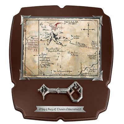 The Hobbit Thorin Oakenshield Key And Map Full Size Replica Wood Display Plaque