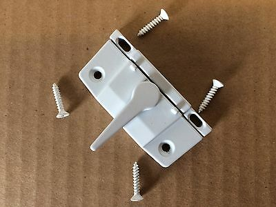Lot of 10 BRAND NEW WHITE WINDOW SECURITY Sash Locks and Keepers with Screws