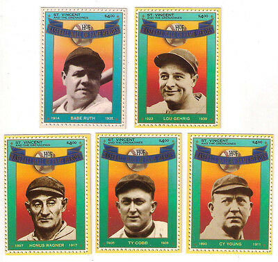 St. Vincent And The Grenadines Ty Cobb Hall Of Fame Heroes Card #1