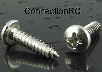 Self Tapping Stainless Steel Screws x 20 - various sizes