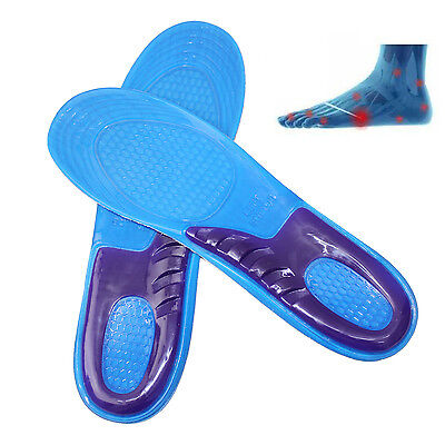 Orthotic Arch Support Massage Feet Gel Cushion Silicone Shoe Insole Shock Absorb