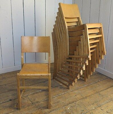 Vintage Wooden Stacking Church Chairs or Reclaimed Chapel Chairs - Seat