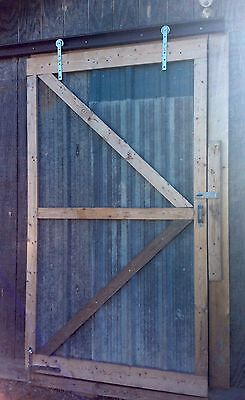 Rustic Custom wood Wooden sliding barn tin doors with mounting hardware