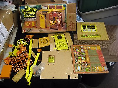 Vintage 1975 Mattel Sunshine Family Craft Store Set w/ Box Incomplete