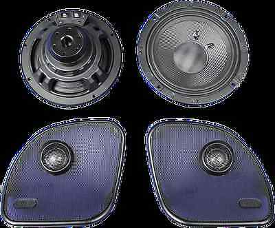 J&M 300 Watt Rokker Motorcycle Speaker Kit 15-17 Harley Touring Bagger FLTRX