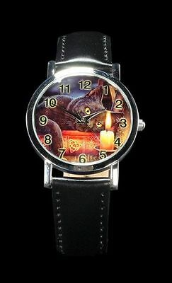 Sale! Lisa Parker The Witching Hour Black Cat Book of Shadows Wrist Watch