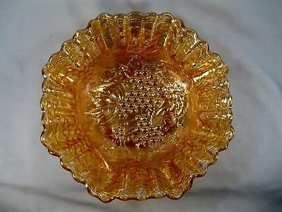 Imperial Grape Carnival Glass Bowl Marigold Nice Iridescence (O) AS IS CONDITION