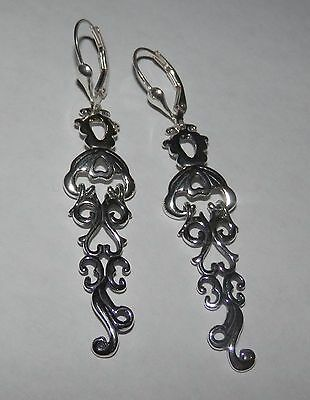 Carolyn Pollack Sterling Silver Filigree Dangle Earrings