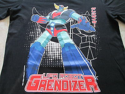 UFO Robot Grendizer Black Blue Green Red White Yellow T Shirt S Small M Medium