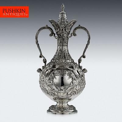 ANTIQUE 20thC EDWARDIAN SOLID SILVER MAGNIFICENT ARMADA JUG, SIBRAY HALL c.1903