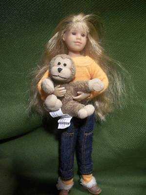 """Only Hearts Club Dolls ~❤️~ Long Crimped Blond Hair 9"""" Doll with Monkey #142"""