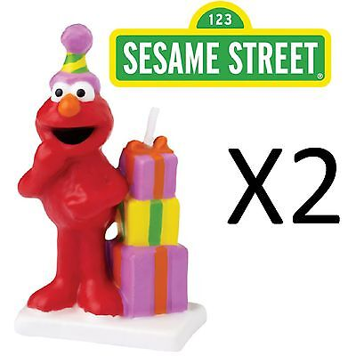 Wilton Elmo Sesame Street Birthday Cake Decorating Candle Topper (2-Pack)
