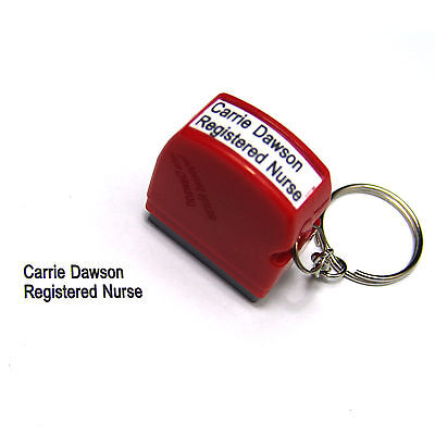 custom name signature rubber Flash Stamp self inking Registered Nurse RN