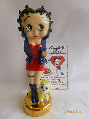 Wade Betty Boop Rainy Day Gold Base And Brolly Le 12 Rare