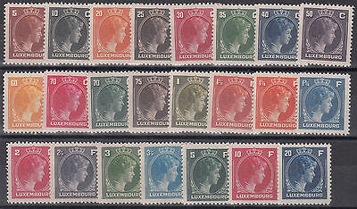 LX27 - Luxembourg 1944-46 complete set of 23 values   MNH