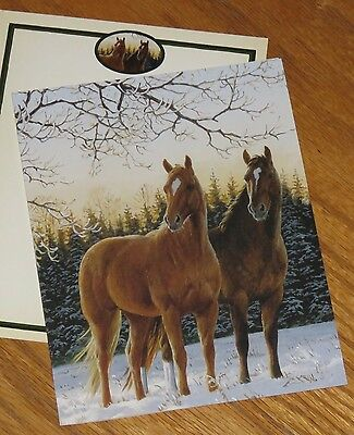 Winter Glow Persis Clayton Weirs Art horses 2006 Lang Christmas Cards 5ct