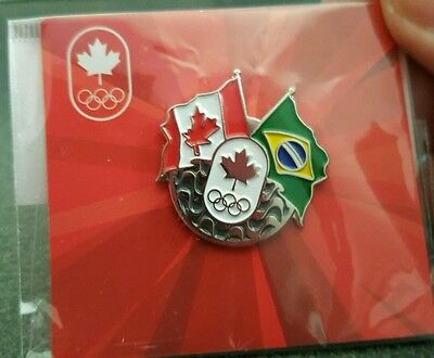 2016 Rio Olympic TEAM CANADA NOC DATED  pin