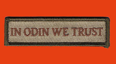 IN ODIN We Trust VIKINGS VALHALLA MAD MAX HOOK LOOP PATCH