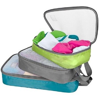 Travelon Packing Organizers, Packing Cubes, set of 3, Neutral colors