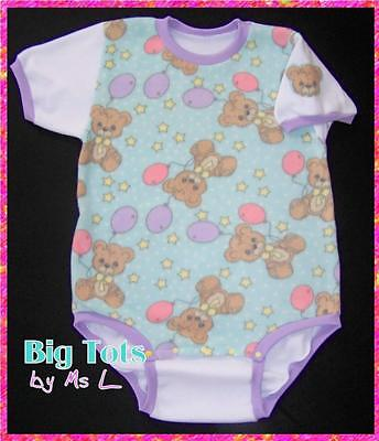 Adult Baby TEDDY BEARS Fleece onesuit   *Big Tots by MsL*