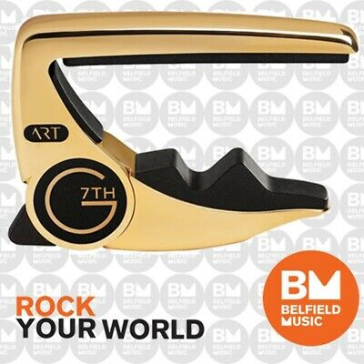 G7th G7 18kt Gold Plate Performance 2 Guitar Capo 6-Strings Acoustic & Electric