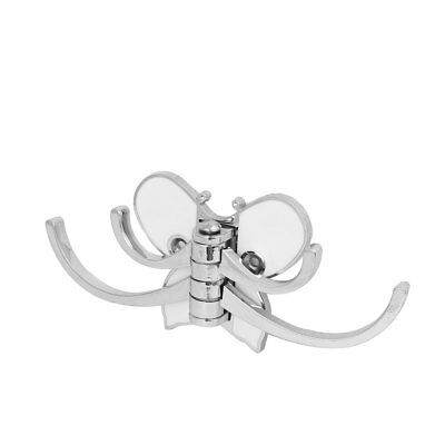 Clothes Robe Coat Hat Metal Butterfly Shape Wall Mounted Four Hook Hanger