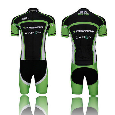 MERIDA Men MTB Cycling  Jersey et Vêtements Vélo Kit (Bib) Shorts Set Quick Dry