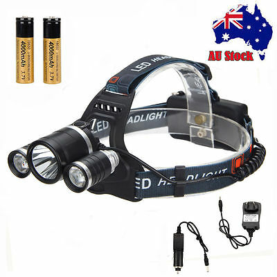 10000 Lm XML T6 LED Headlamp Rechargeable Head Light Torch 18650 Fishing Charger