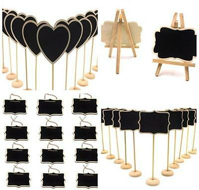 12PCS Mini Wooden Wedding Blackboard Chalkboard Label Table Number Sign Exotic