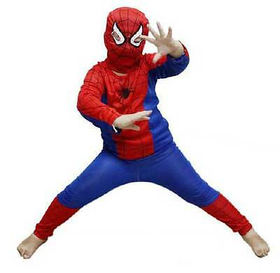 Affordable Childrens Kids Spiderman Fancy Dress Play Costume Outfit New Cheap