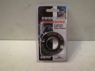Trend Gb30 Precision Steel Router Guide Bush 30Mm Diameter  With A 6Mm Spigot