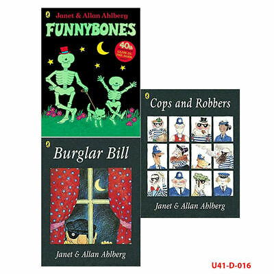 Allan Ahlberg & Janet Ahlberg Collection 3 Books Set Cops and Robbers Funnybones