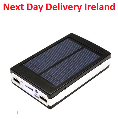 50000mAh Dual USB Portable Solar Battery Charger Power Bank For Cell Phone Black