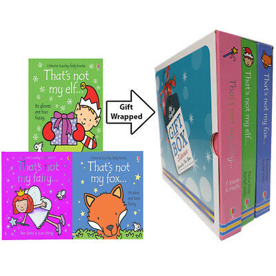 Thats Not My Fairy,Elf,Fox Collection 3 Books Fiona Watt Gift Wrapped Slipcase
