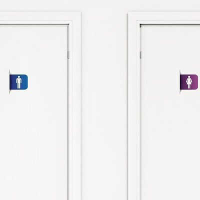 Paperflow Office Deco Transfer Restroom Sign Wall Decal