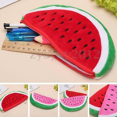 UK Plush Stationery Pencil Case Cosmetic Bag Makeup Watermelon Purse Pouch NEW