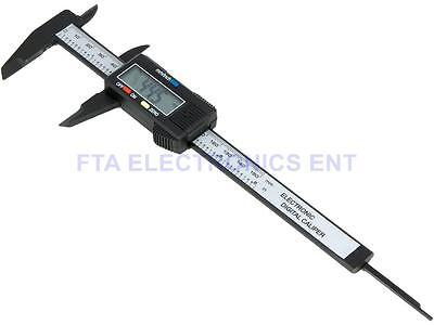"6"" inch 150mm Carbon Fiber Composite Vernier Digital Electronic Caliper Ruler"