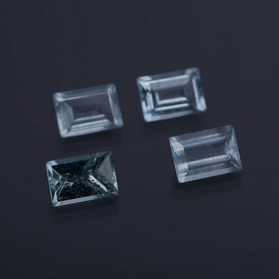 aguamarina genuina - Rectángulo 7 x 5mm 0,91 Ct 14)