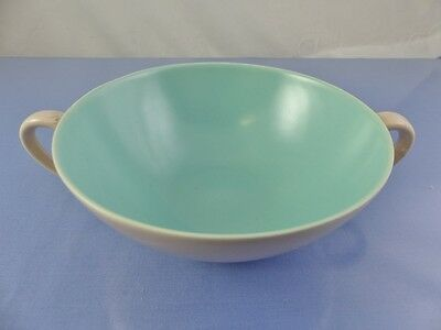 """TWINTONE GREEN SOUP BOWL 5"""" with handles BY POOLE POTTERY"""