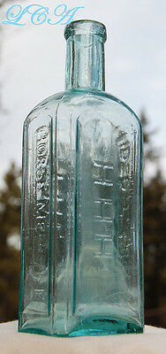 Early AND scarce LARGER size HHH celebrated HORSE MEDICINE DDT 1868 BOTTLE