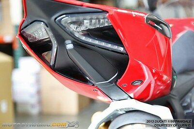 12-18 Ducati Panigale 899 959 1199 1299 Fender Cover Plate Hole Block Off