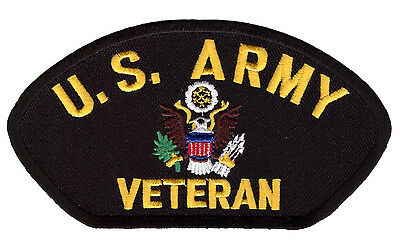US Army Veteran  EMROIDERED 5 inch IRON ON MILITARY PATCH