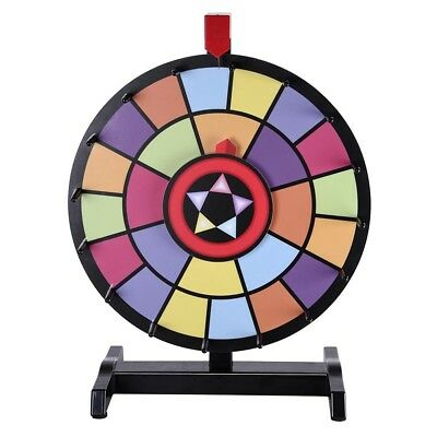 "WinSpin™ 15"" Tabletop Color Prize Wheel 2 Circles 2 Pointers Spin Game Tradeshow"