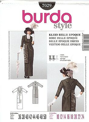 PATTERN for Titanic Downton Abby Era style dress Historical Burda 7029 sz 10-24