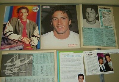 SET OF MAGAZINE CLIPPINGS Andrew Shue Melrose Place w pin up