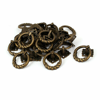 Cupboard Dresser Drawer Zinc Alloy Retro Style Pull Handle Ring 41x30x25mm 20pcs