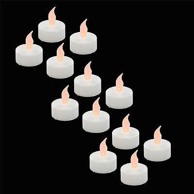 12 x LED Flameless Tealights Flickering Battery Longlife Candles Decoration