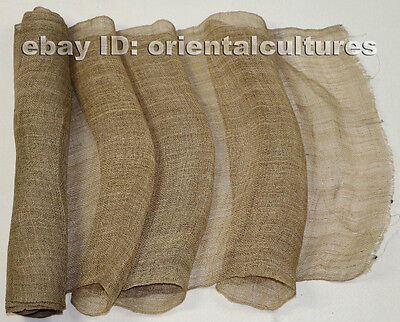 Vintage tribe chinese miao people's homespun hand-woven fabric textile roll 6.1M