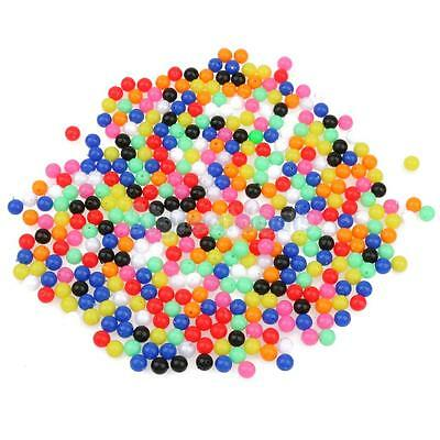 1000 Piece 8mm Round Beads Assortment Plastic Fishing Tackle Tools